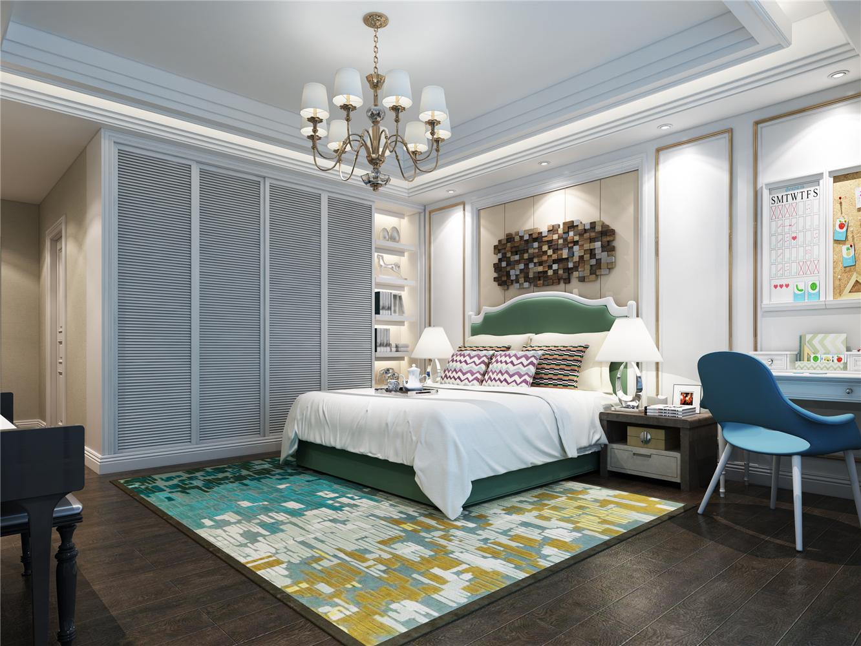 欧式精致水晶吊灯温馨卧室装修