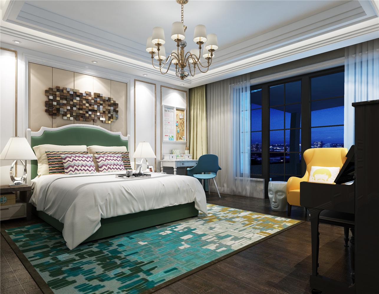 純凈吊燈溫馨墻面歐式臥室裝修風格