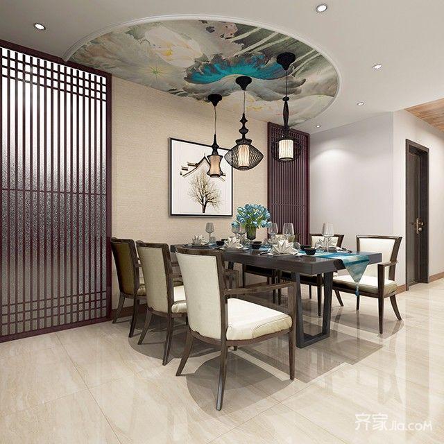 中式家庭小餐厅装修效果图